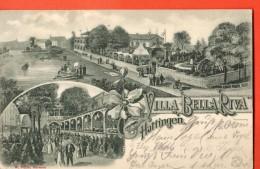 IAB-17  Litho  Villa Bella Riva Hattingen ,  Pionier. Gelaufen In 1900 Nach Roubaix - Hattingen