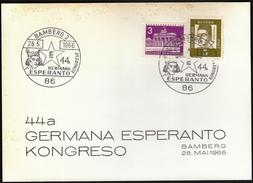 Germany Bamberg 1966 / German Esperanto Congress - Esperanto