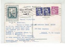ENTIER - CP EXPO 1937 + GANDON N° 720 ET 720 B PAIRE - VARIETE MECHES RELIEES - Variétés: 1931-40 Lettres & Documents