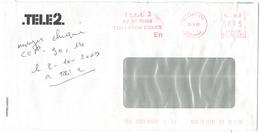 FRANCIA - France - 2007 - 000,45€ EMA + Flamme Tele2 - Viaggiata Da Évry Per Royan, France - Storia Postale