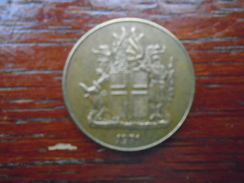 ICELAND 1971 ONE KRONA Nickel-brass USED COIN (Ref:HG51) - Iceland