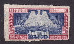 Poland, Scott # Non-Scott, Mint Hinged, Charity Stamp To Rebuild Resorts After WW II - Poland