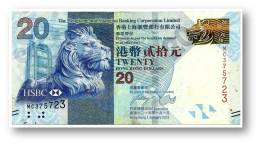 HONG KONG - 20 DOLLARS - 2013 - Pick 212.c - Serie MC - HSBC - 2 Scans - Hong Kong