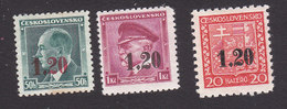Czechoslovakia, Sudetenland, Scott #Unlisted Ocupation, Mint Hinged, Czech Stamps Surcharged, Issued 1938 - Unused Stamps