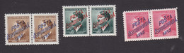 Czechoslovakia, Scott #Unlisted Occupation, Mint Never Hinged, German Stamps Overprinted, Issued - Unused Stamps