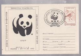 W.W.F, PANDA,  COVER  FDC SPECIAL PANDA  BEAR WWF Protect Birds Covers 1992    ROMANIA - FDC