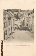 WASIGNY LA RUE DE L'EGLISEEN 1866 FETE 08 ARDENNES - France