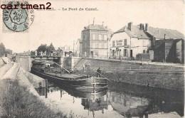 RETHEL PONT DU CANAL PENICHE CARRE EPICIER 08 ARDENNES - Rethel