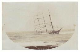 Falls Line (Scotland) Barque 'Falls Of Halladale', Sailing Ship, Wrecked Peterborough (Australia) 1908, Photo Postcard - Sailing Vessels
