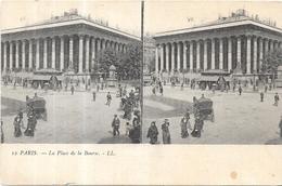 PARIS - 75 - CPA DOS SIMPLE - Double Vue De La Place De La Bourse - ENCH1612 - - Louvre