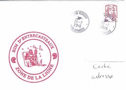 12562  B2M D'ENTRECASTEAUX - ZONE LIGNE Entre CLIPPERTON Et Les MARQUISES - POLYNÉSIE - SPID ROISSY 20/7/2016 - Marcofilia (sobres)