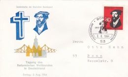 Germany FDC 1964 Tagung Des Reformierten Weltbundes In Deutschland (G69-1B) - FDC: Buste