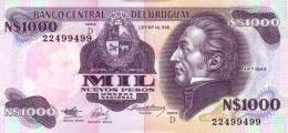 URUGUAY 1000 NUEVO PESOS ND (1992) P-64Ab UNC SERIE D [ UY528b ] - Uruguay