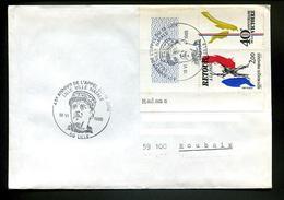 Lettre 1985,De Gaulle,Appel Du 18 Juin,obliteration Illustrée Lille Ville Natale,Retour A La Paix 2.00fr Seul Sur Lettre - De Gaulle (General)