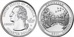 "USA QUARTER (1/4 Dollar) 2011 P Mint ""Chickasaw"" UNC - Émissions Fédérales"
