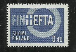 SUOMI FINLAND FINLANDIA 1967 EFTA European Free Trade Association Industrial Tariffs Abolished MNH