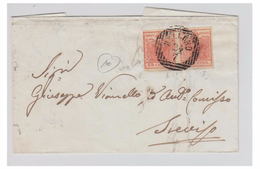 ITALIE--LOMBARDO-VENETIE --1860  -- LETTRE DE BELLUNO --VARIETE DU CADRE -- - Lombardy-Venetia