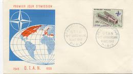 - FRANCE - FDC PARIS 12.12.1959 - 10e Anniversaire O.T.A.N. -
