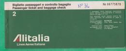 Billet D'avion - Alitalia - Nice à Rome - Europe