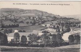 69 - COURS / VUE GENERALE QUARTIER DE LA RIVIERE ET VILLAGE BOSLAND - Cours-la-Ville