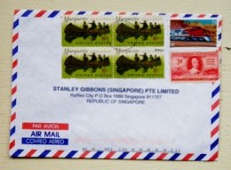 Cover From Usa Sent To Singapore Marquette Explorer Railway Locomotive - Covers & Documents