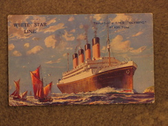 WHITE STAR OLYMPIC ART CARD - Paquebots