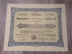 100 Goldmark Aktie 1924 Ahrtalbank AG Ahrweiler Eifel - Bank & Versicherung