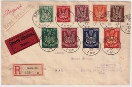 DR,1922,  Seltener Satzbrief,lose Schon € 140,- #7219 - Deutschland