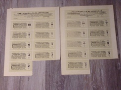 Zinsscheine Bogen Für 100 Goldmark Aktie 1924 Ahrtalbank AG Ahrweiler Eifel - Banque & Assurance