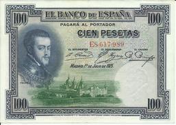 BILLETE  100  PESETAS AÑO  1925 - [ 1] …-1931 : First Banknotes (Banco De España)