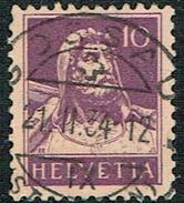TIMBRE 1933 OBLITERE  PAPIER GRILLEE CATALOGUE DES TIMBRES SUISSES Nr:184z. Y&TELLIER Nr:243a. MICHEL Nr:204z. - Gebraucht