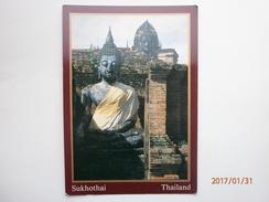 Postcard SukhothaiThailand Giant Buddha Images My Ref B2200 - Thailand