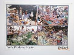 Postcard Fresh Produces Market Thailand Multiview My Ref B2201 - Thailand