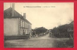 CPA: La Villeneuve Au Chêne (Aube) La Rue Aux Chèvres - Frankreich