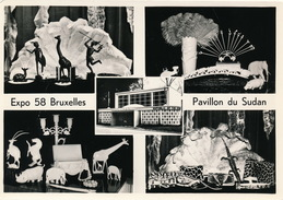 CPA CARTE PHOTO - EXPOSITION BRUXELLES 1958 - PAVILLON DU SUDAN - Sudan