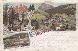 VILLNÖSS - GRUSS AUS VILLNÖSS - LITHO. - Gel. 1900 - Other Cities