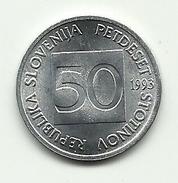 1993 - Slovenia 50 Stotinov, - Slovenia