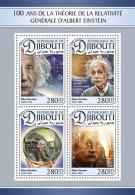 DJIBOUTI 2016 ** Albert Einstein M/S - OFFICIAL ISSUE - A1704 - Albert Einstein