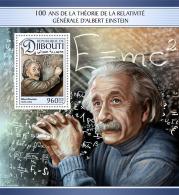 DJIBOUTI 2016 ** Albert Einstein S/S - IMPERFORATED - A1704 - Albert Einstein