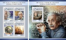 DJIBOUTI 2016 ** Albert Einstein M/S+S/S - IMPERFORATED - A1704