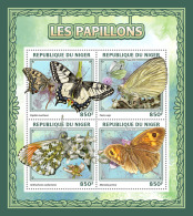 NIGER 2016 ** Butterflies Schmetterlinge Papillons M/S - IMPERFORATED - A1704 - Schmetterlinge