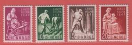 1944 ** (sans Charn., MNH, Postfrisch)   Yv  269/72    Mi  299/02    NHK  326/9