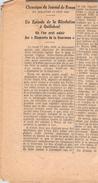 Article De Journal  épave Du Télémaque Seine Quillebeuf Sur Seine 27 Eure Trésor Des Rois De France Or Joyaux épave - Documenti Storici