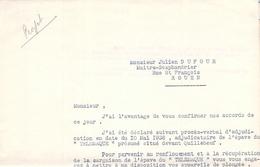Lettre à Un Scaphandrier épave Du Télémaque Seine Quillebeuf Sur Seine 27 Eure Trésor Des Rois De France Or Joyaux épave - Documenti Storici