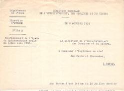 Lettre Au Sujet Du Quintadoine Baie De Seine Quillebeuf Sur Seine  27 Eure Trésor Des Rois De France Or Joyaux épave - Documenti Storici