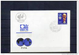 Jugoslawien / Yugoslavia 1974 World Football Championship Muenchen FDC - 1974 – Alemania Occidental