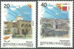 MACEDONIA 2012 Macedonia In EU - Nicosia - Copenhagen - MNH ERROR Makdonija MNH - Mazedonien