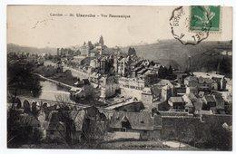 """1914--cachet Manuel Ambulant """"Ussel à Brive"""" Sur CPA  Uzerches--19 - Marcofilia (sobres)"""