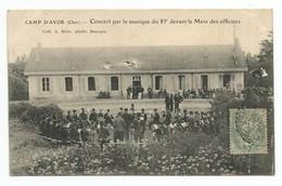 AVORD - Camp D'Avor Concert Par La Musique Du 85 ème Régiment Devant Le Mess Des Officiers - Avord