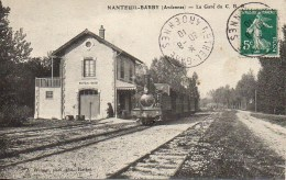 08 NANTEUIL-BARBY  La Gare Du C.B.R. - Gares - Avec Trains